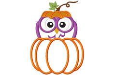 Hang to Dry Applique - Peeking Pumpkin Owl, $3.99 (http://www.hangtodryapplique.com/peeking-pumpkin-owl/)