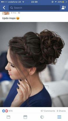 My new favourite wedding updo that will look fab with a tiara: