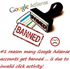 I got banned by Google Adsense - STOP Google Adsense Click Bombing Now: https://www.youtube.com/watch?v=P1tqCUTfL1g - Added by allsitecafe.com: http://www.allsitecafe.com