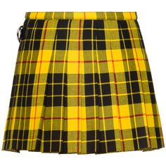GONNA (33.980 UYU) ❤ liked on Polyvore featuring skirts, patch skirt, yellow skirt, yellow tartan skirt, tartan plaid skirt and tartan skirt
