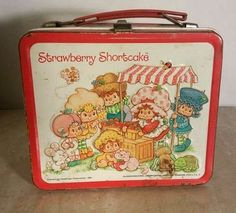 1981 Vintage Strawberry Shortcake Metal Lunchbox And Thermos Aladdin