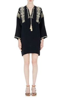 Isabel Marant Étoile Embroidered Gauze Vinny Tunic Dress at Barneys New York