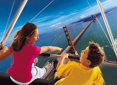 """Experience the Golden State like never before while """"hang-gliding"""" on Soarin', located in Epcot at the Walt Disney World Resort."""