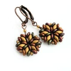 superduo earrings tutorial - Google Search