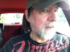 selfie in car by Peter Coukis, composer