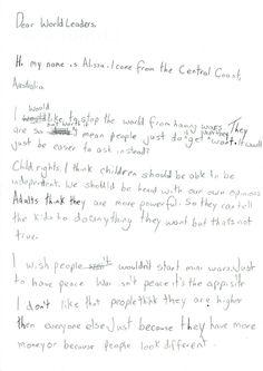 Alissa, 12, Australia #smallvoices #respect #childfund