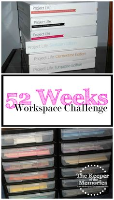 So, it sounds like maybe you're having a hard time getting your workspace organized. Maybe, you're frustrated because you have too much stuff and not enough space. You might even think your creative space is a lost cause altogether. Or you think you know what you want, but you're really not sure. Either way, you're overwhelmed and 52 Weeks to an Organized Workspace is here to help. Join us as we work together to get ourselves organized one challenge at a time.
