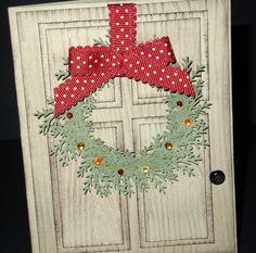 Christmas Card Punch Art
