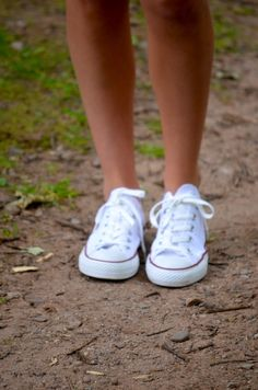 white Converse sneakers <3