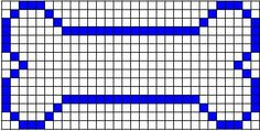 Big Bone Knitting Chart - 15 x 30 sts. Description from chemknits.com. I searched for this on bing.com/images