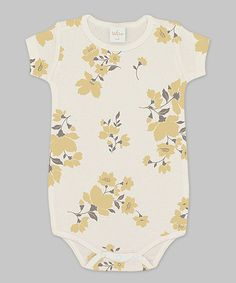 Look at this Truffles Ruffles Ivory Wild Flower Bodysuit - Infant on #zulily today!