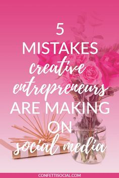 Find out what mistakes creative entrepreneurs are making on social media from my lovely friend Christina. #followback #startup #onlinebusiness #onlinebusiness #entrepreneur #followback