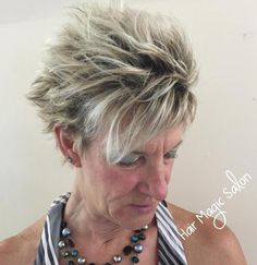 Choppy+Short+Hairstyle+For+Women+Over+50