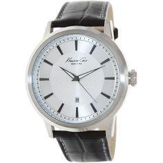 Kenneth Cole Men's Classic KC1952 Brown Leather Quartz Watch