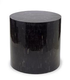 FARRAGO DESIGN  SERENITY END TABLE/STOOL IN HORN