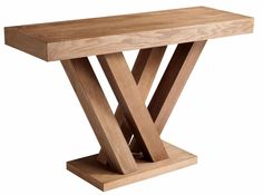 Sunpan 'Ikon' Madero Console Table - 16418425 - Overstock - Great Deals on Sunpan Coffee, Sofa & End Tables - Mobile Diy Wood Projects, Furniture Projects, Furniture Plans, Woodworking Projects, Woodworking Ideas Table, Furniture Makeover, Wooden Furniture, Cool Furniture, Furniture Design