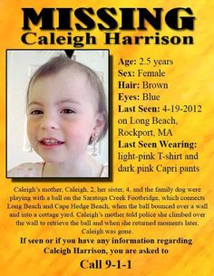 Where Is Caleigh Anne Harrison? Please look out for this little girl.