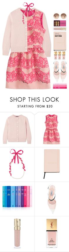 """""""*1839"""" by cutekawaiiandgoodlooking ❤ liked on Polyvore featuring Alexander McQueen, RED Valentino, Lanvin, MANGO, Prada, Smith & Cult, Yves Saint Laurent, Chloé, contestentry and NYFWHotPink"""