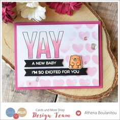 New Baby Girl Card | Craft For Joy Designs