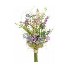 """(1 Bouquet) Artificial 12"""" Lupinus and Wild Flower Bouquet - Lavender & Pink Colors found on Polyvore"""