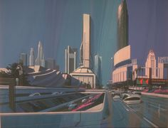 Syd Meads Future for LA, futurism form 1988 for 2013