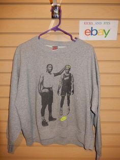 VTG 1990's Nike Air Jordan Spike Lee Best on Earth & Mars Sweatshirt Boys XL USA