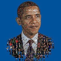 Presidenta Obama portrait made for Huffington magazine
