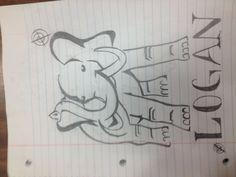 Elephant drawing!!:)
