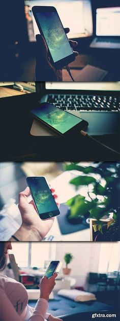 4 Photorealistic PSD Mock-Up's - Iphone 6 Mockup, Iphone 6, Photoshop, Design, Miniatures, Model