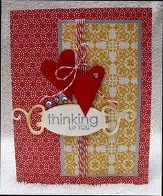 Sweet card. Love the patterns.