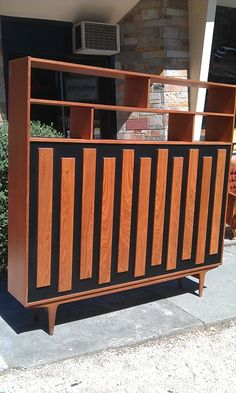 Macrob Danish Style Room Divider Wall Unit Double Sided Sideboard