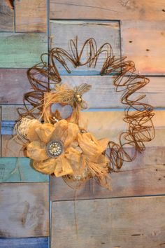 bedspring wreath | Bed Spring Wreath from Spellbinders.