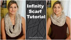 Easy and fast chunky crochet infinity scarf tutorial. #crochet #tutorial #fall #gifts https://www.youtube.com/user/iheartstitching?sub_confirmation=1