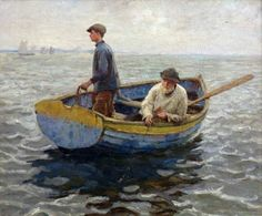 Harold Charles Francis Harvey (British painter) 1874 - 1941 In the Whiting Ground, ca. 1900 oil on canvas 62 x 75 cm.