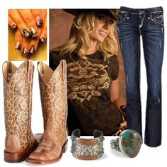 """""""Leopard Cowgirl"""" by sandbunny on Polyvore"""