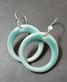 Porcelain Earrings - Circle Love in Pistachio | Flickr - Photo Sharing!
