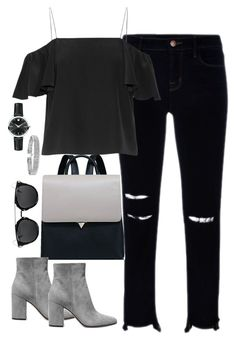 """""""Untitled #2960"""" by theaverageauburn on Polyvore featuring J Brand, Fendi, Gianvito Rossi, Bling Jewelry and Movado"""