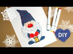 How to draw a Christmas Scandinavian Gnome - DIY🎄🎄🎄 - YouTube Scandinavian Gnomes, Scandinavian Christmas, Christmas Gnome, Christmas Ornaments, 2nd Grade Art, Christmas Doodles, Zentangle Patterns, Elementary Art, Easy Drawings