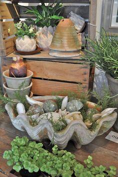 Unique pots and garden elements...a little shop called Sentimental Gardens