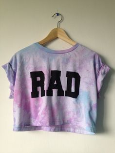 Rad Cropped top crop tshirt tie dye pink blue and purple 91 kr