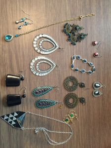 You can always find great jewelry at a garage sale.