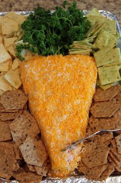 Carrot shaped cheese ball