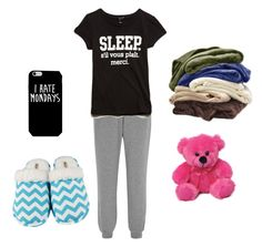 """""""Pyjamas #2"""" by jessicalittlestar ❤ liked on Polyvore featuring Calvin Klein Underwear, Forever 21, Leisureland, women's clothing, women's fashion, women, female, woman, misses and juniors"""