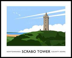 Scrabo Tower art print