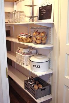 Closet under the stairs between dining room & kitchen. Serving dishes and party … Closet under the stairs between dining room & kitchen. Serving dishes and party stuff can go in there. - Pantry With One Redo Pantry Closet, Kitchen Pantry, Diy Kitchen, Kitchen Dining, Room Kitchen, Dining Room, Kitchen Ideas, Under Stairs Pantry, Closet Under Stairs