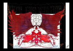 Titre : Les Succubes de Rorschach Technique : toile acrylique retravaillée numériquement
