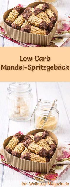 Low-Carb-Weihnachtsgebäck-Rezept für Mandel-Spritzgebäck: Kohlenhydratarme, kalorienreduzierte Weihnachtskekse - ohne Getreidemehl und Zucker gebacken ... #lowcarb #backen #weihnachten