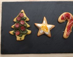 Mini Christmas Pizzas Using Cookie Cutters