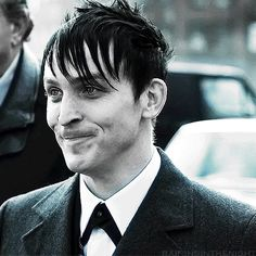 "Robin Lord Taylor. Oswald Cobblepot. Gotham. ""Inflation's a bitch."""