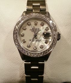 women's Rolex watch with diamonds